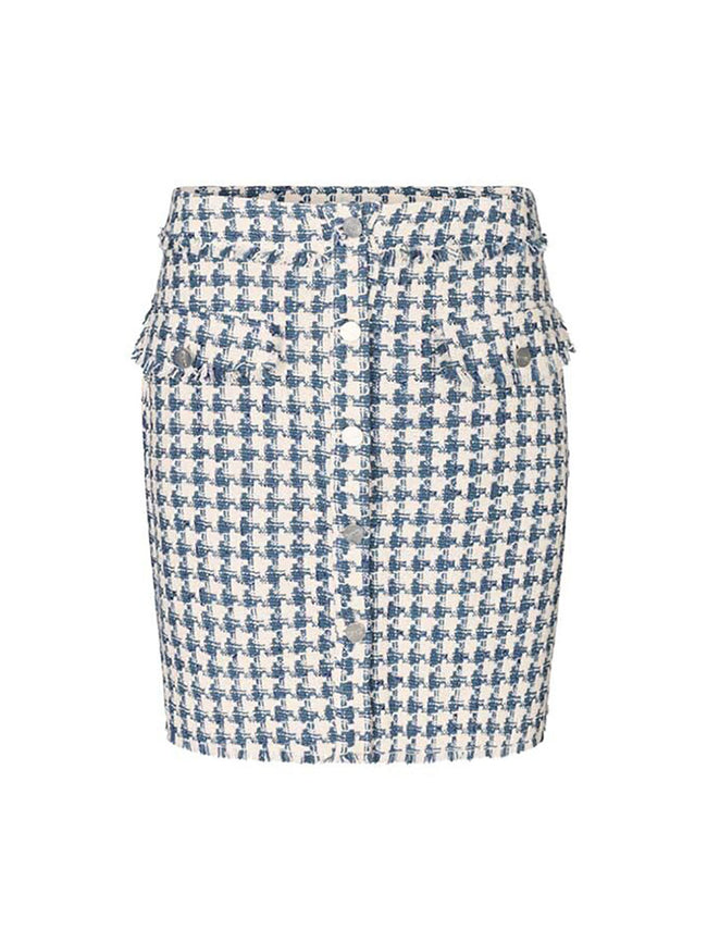 FRANJA HOUNDSTOOTH MINI SKIRT