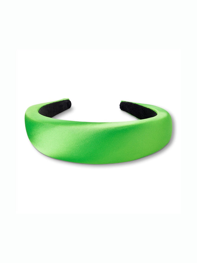 SATIN HEADBAND - APPLE GREEN