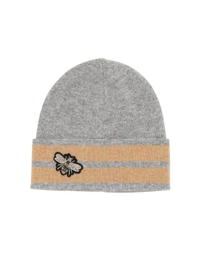 BEANIE HAT - GREY STRIPE