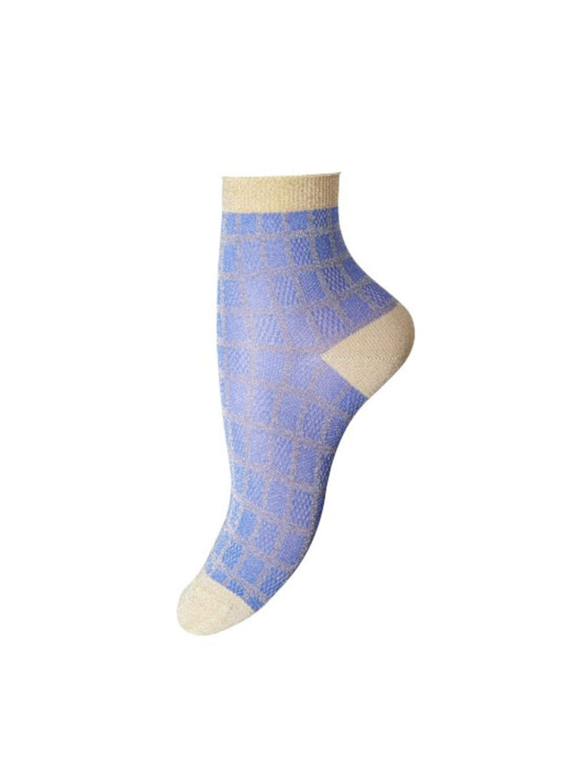 MOLLY ANKLE SOCKS - BLUE GOLD
