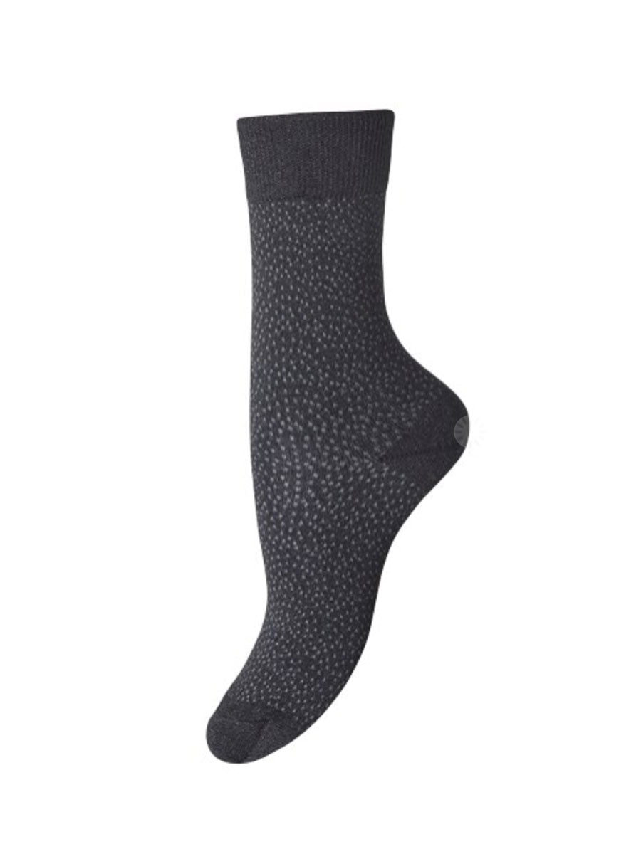 POPPY ANKLE SOCKS - BLACK