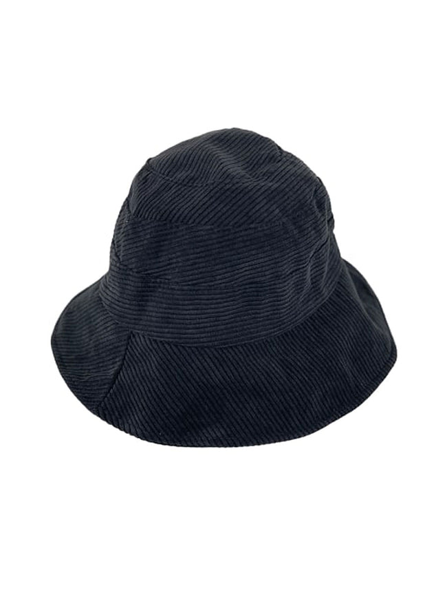 CORDUROY BUCKET HAT - BLACK