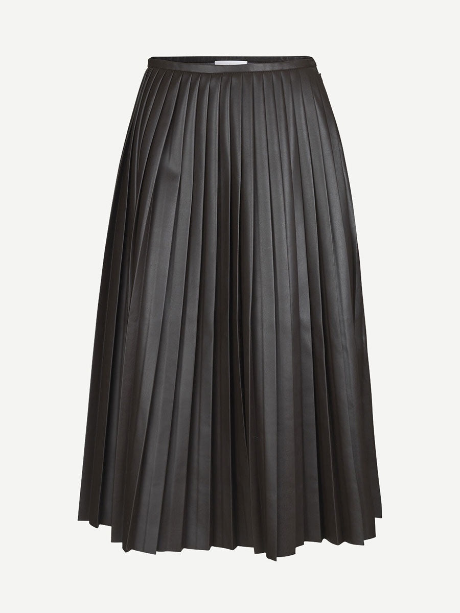 ZAHA PLEATED SKIRT - MOLE