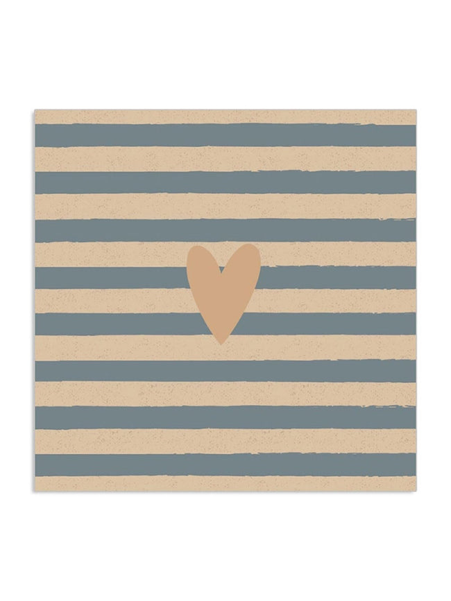 GOLD HEART & STRIPE ORGANIC NAPKINS