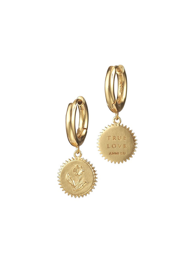 TRUE LOVE HOOP EARRINGS GOLD