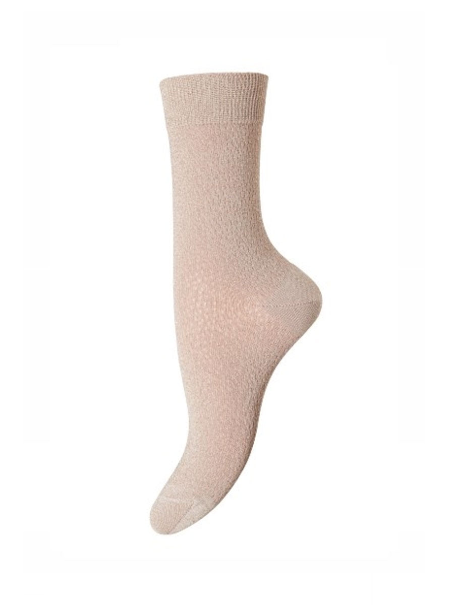 POPPY ANKLE SOCKS - NUDE