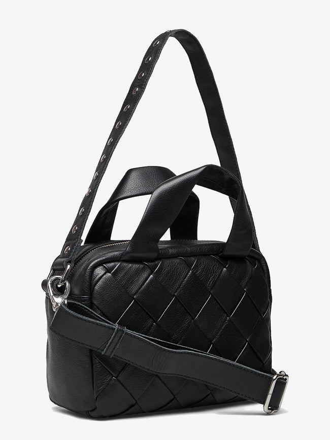 DONNA BRAIDED BAG - BLACK