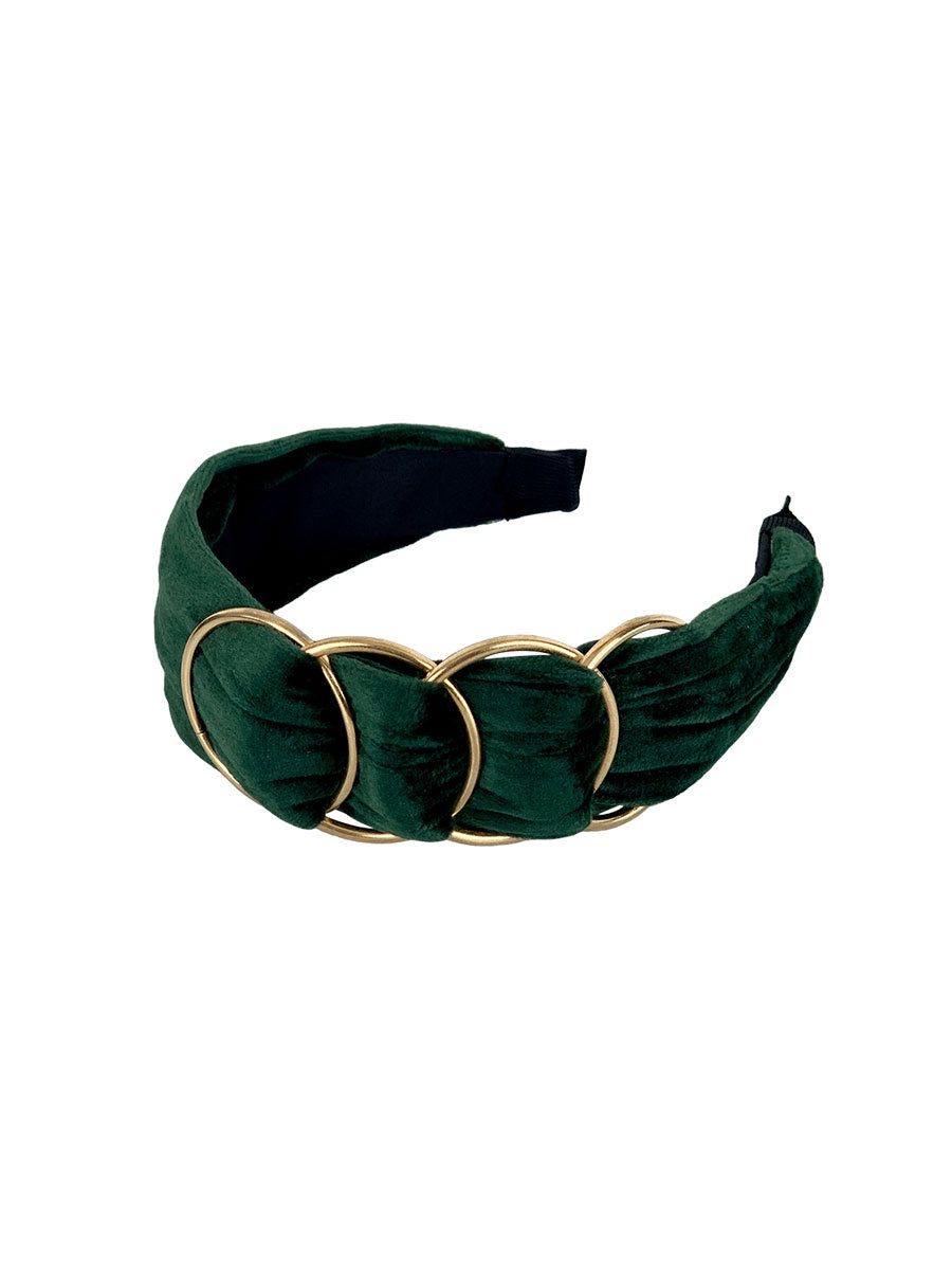 HAZE GOLDRING HEADBAND - BOTTLE GREEN