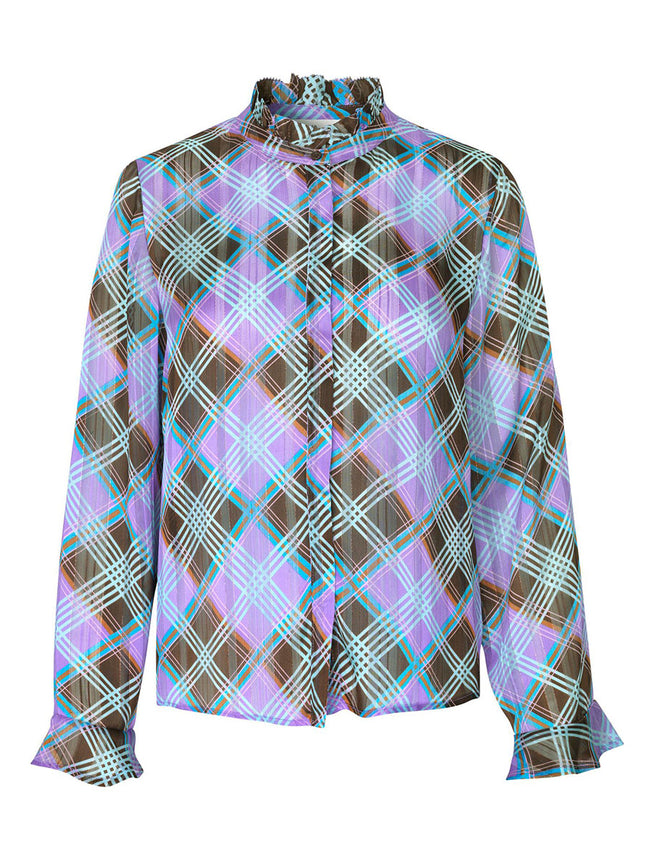 GAMMA SHIRT - PURPLE CHECK