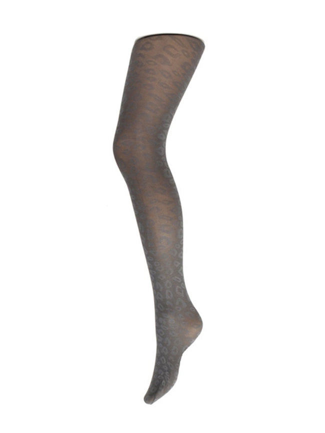 SNEAKY FOX MAC LEOPARD TIGHTS- ANTRACITE