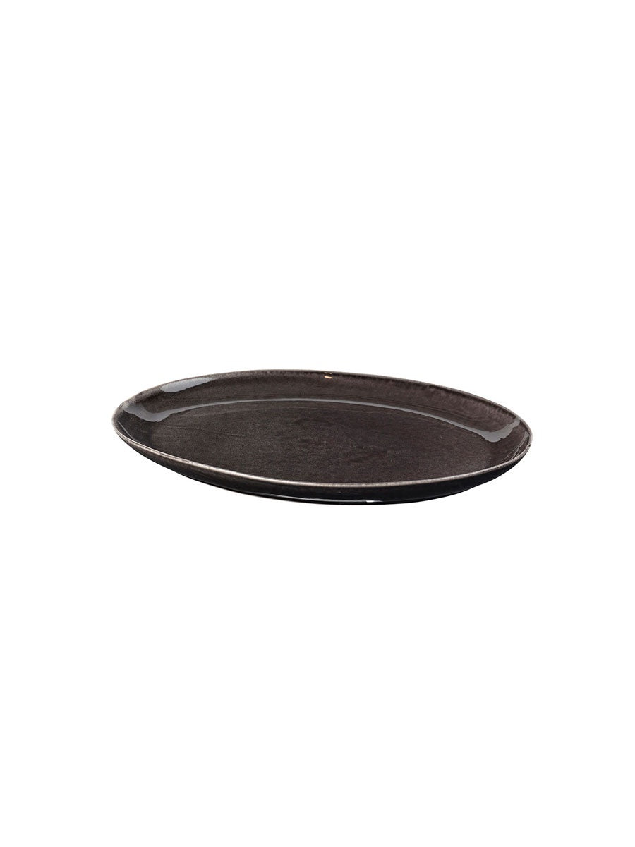 SMALL OVAL PLATE - NORDIC COAL
