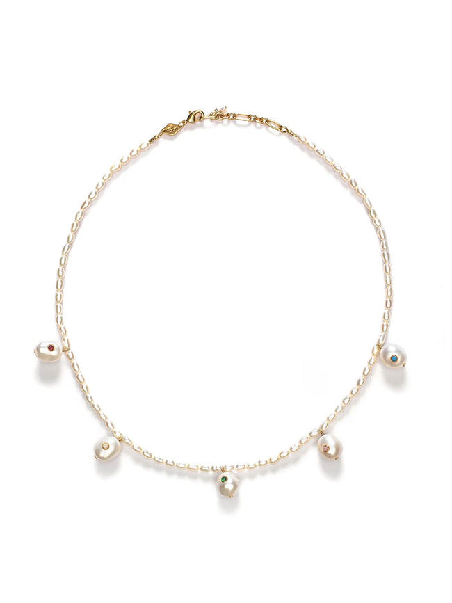 MARIANNE PEARL NECKLACE GOLD