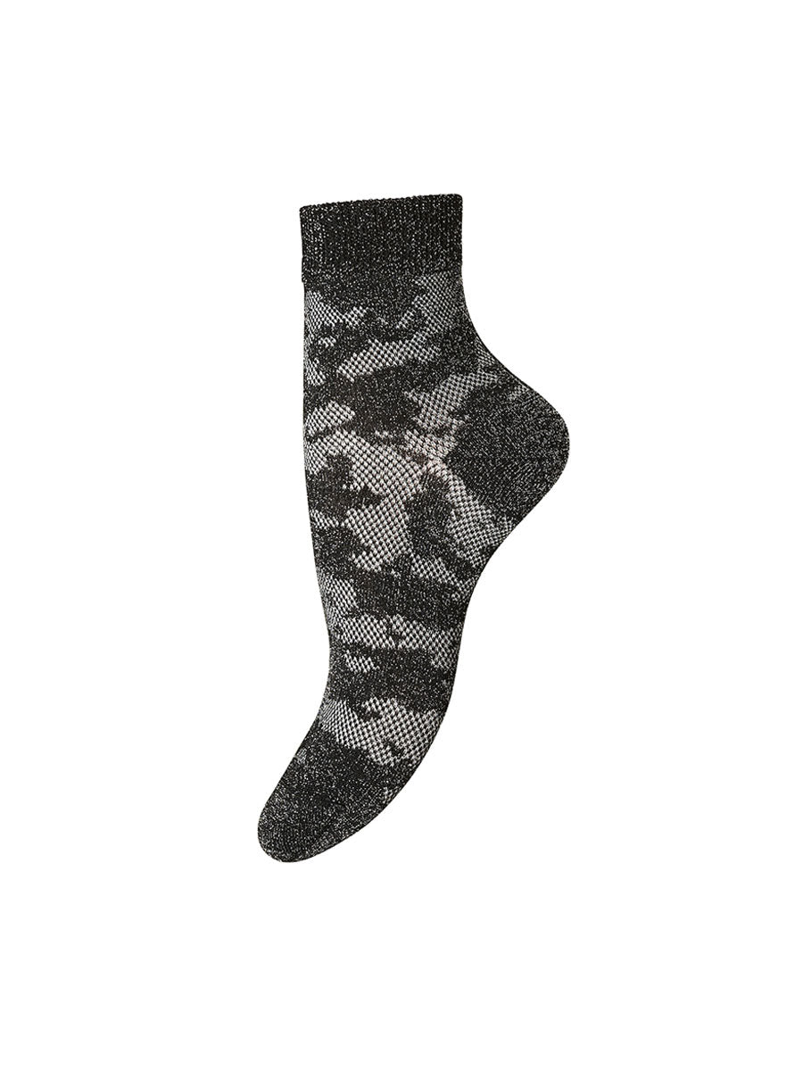 EVE GLITTER ABSTRACT ANKLE SOCKS