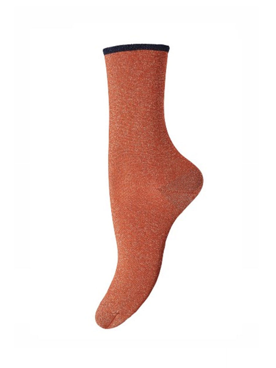MARCY ANKLE SOCKS - RUST