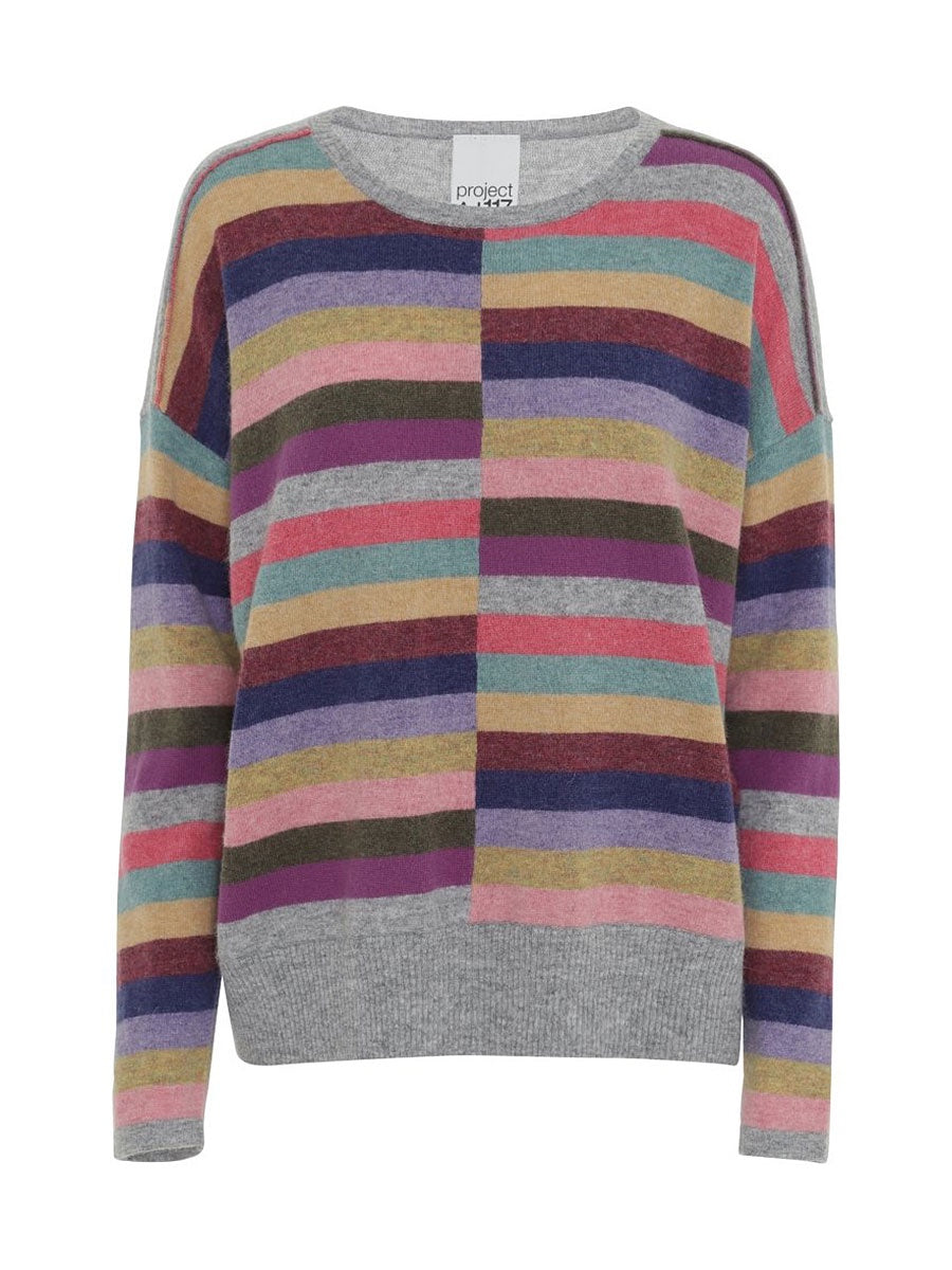 SAFFRAN JUMPER - MULTI STRIPE