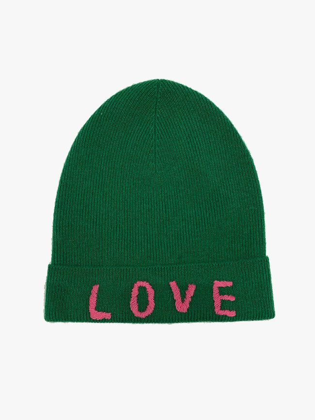 LOVE CASHMERE HAT - GREEN