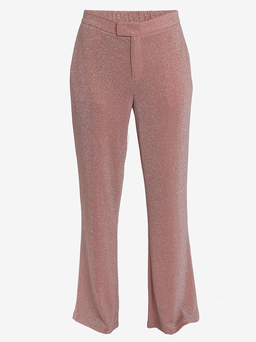 ALANA LUREX TROUSERS - PINK