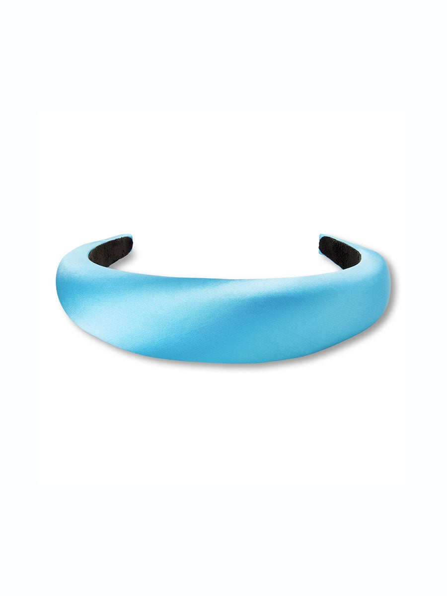 SATIN HEADBAND - LIGHT BLUE