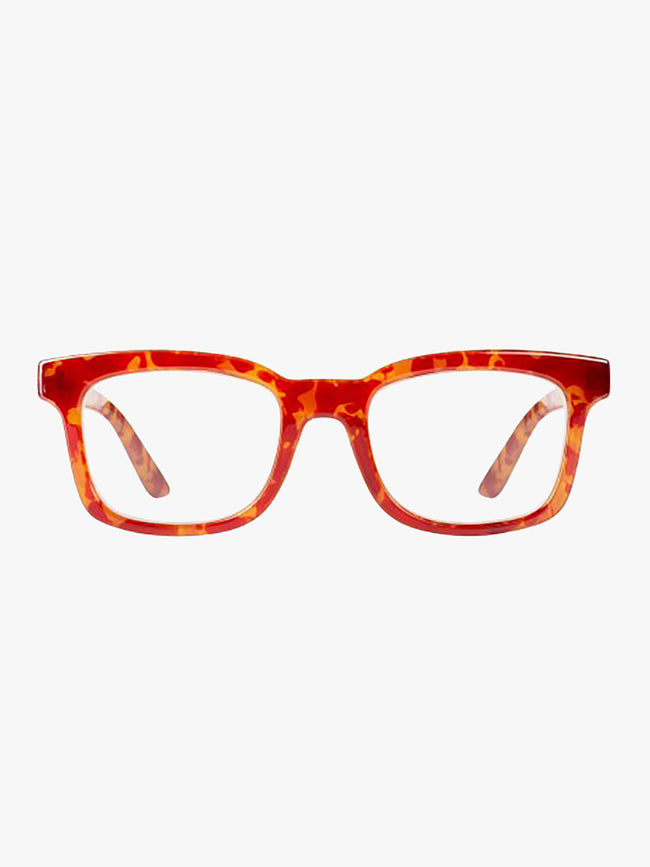 FATIMA READING GLASSES - LION ORANGE MILKY