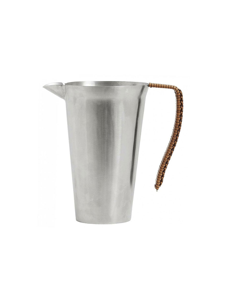 METAL JUG W/ LEATHER HANDLE