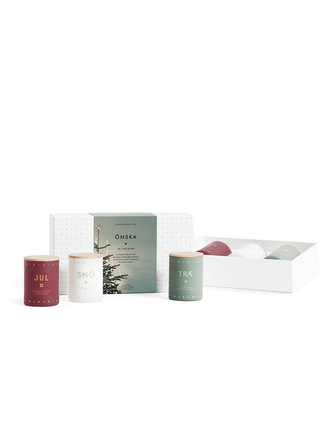 GIFT SET / TRIO OF CANDLES - ONSKA