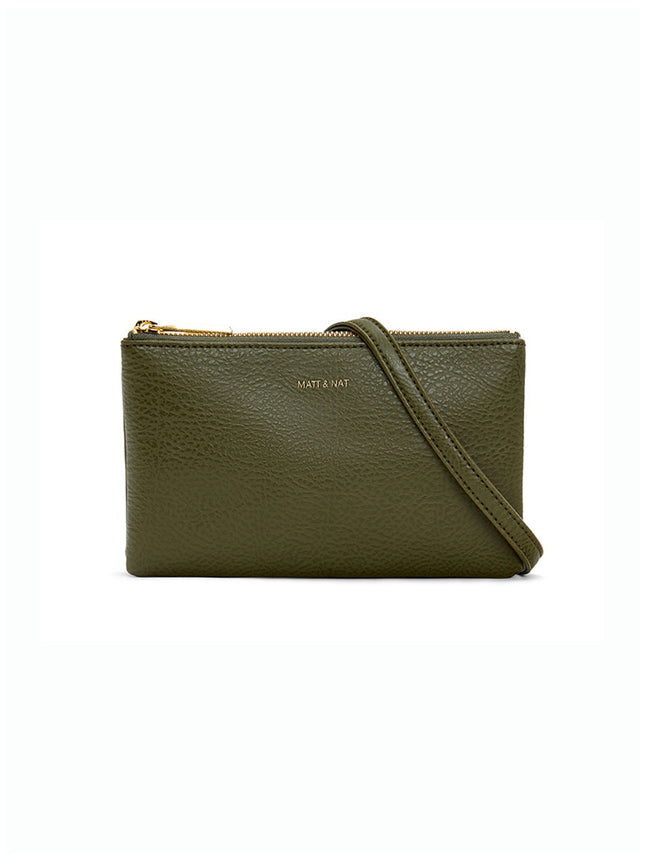 TRIPLET VEGAN CROSSBODY BAG - LEAF GREEN