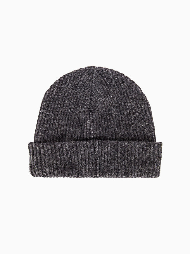 RECYCLED WOOL KNIT HAT - PHANTOM