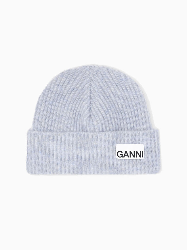 RECYCLED WOOL KNIT HAT - HEATHER