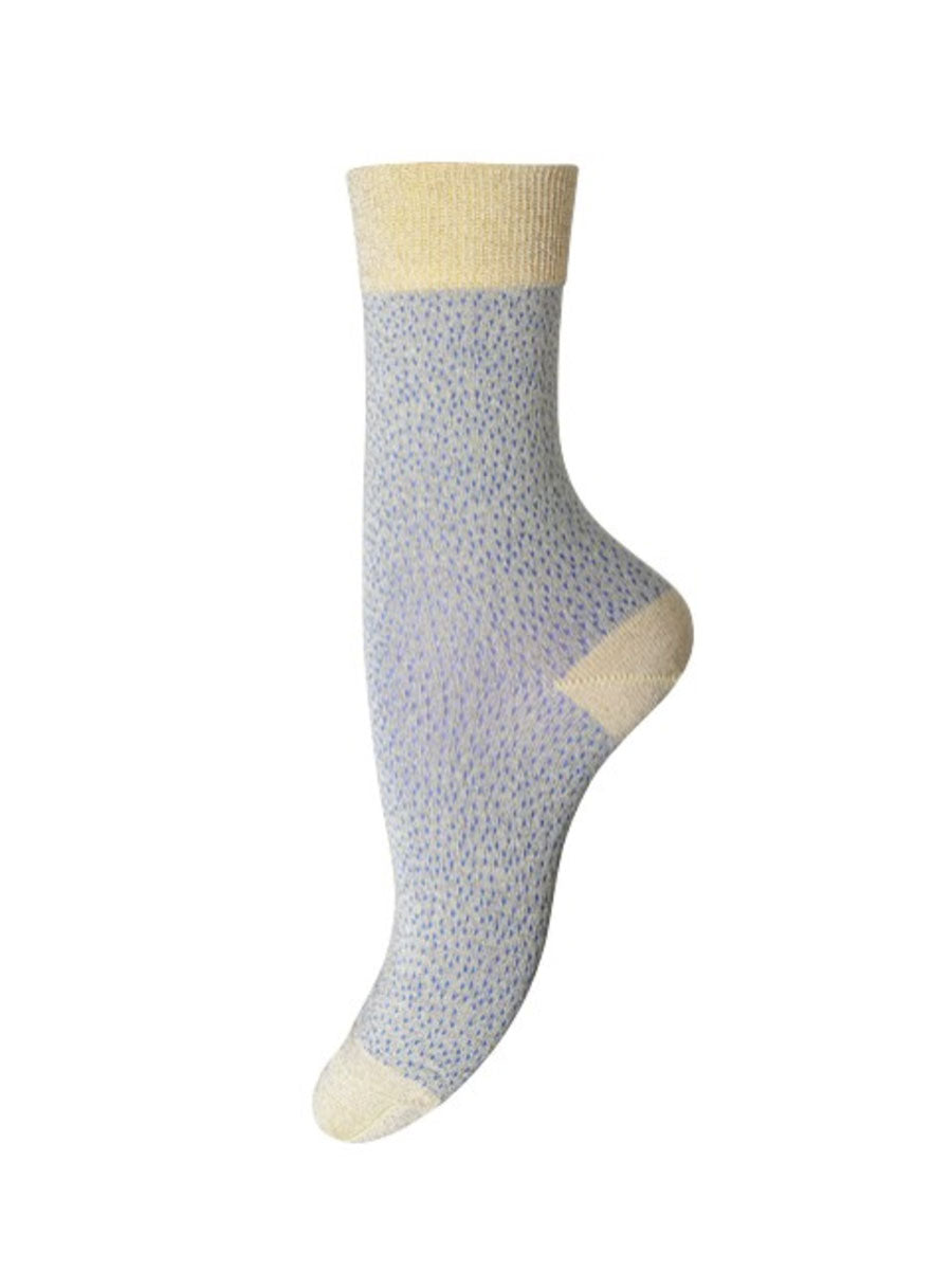 POPPY ANKLE SOCKS - GOLD GREY