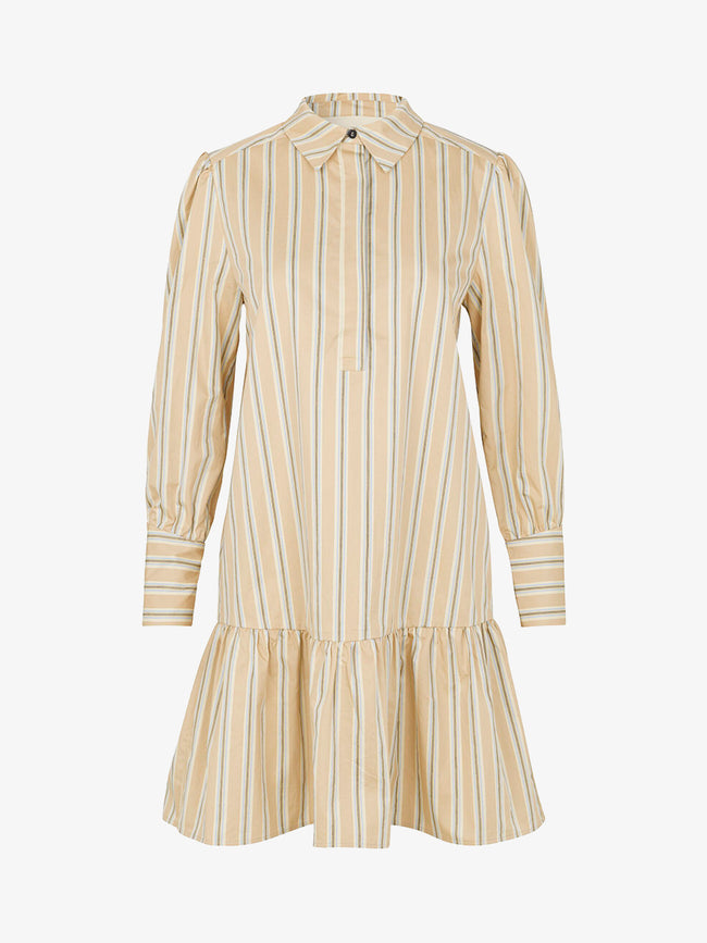 IVERA STRIPE SHIRT DRESS - CUBA