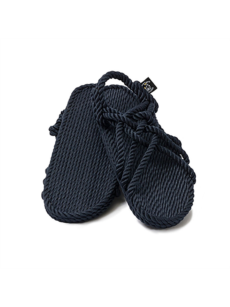 JC ROPE SANDALS - NAVY