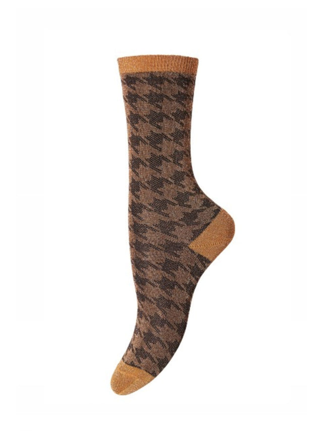 LYDIA ANKLE SOCKS - BRONZE