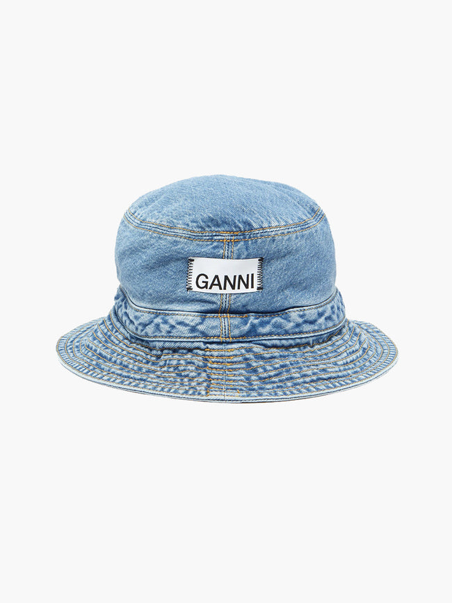 WASHED DENIM HAT - BLUE