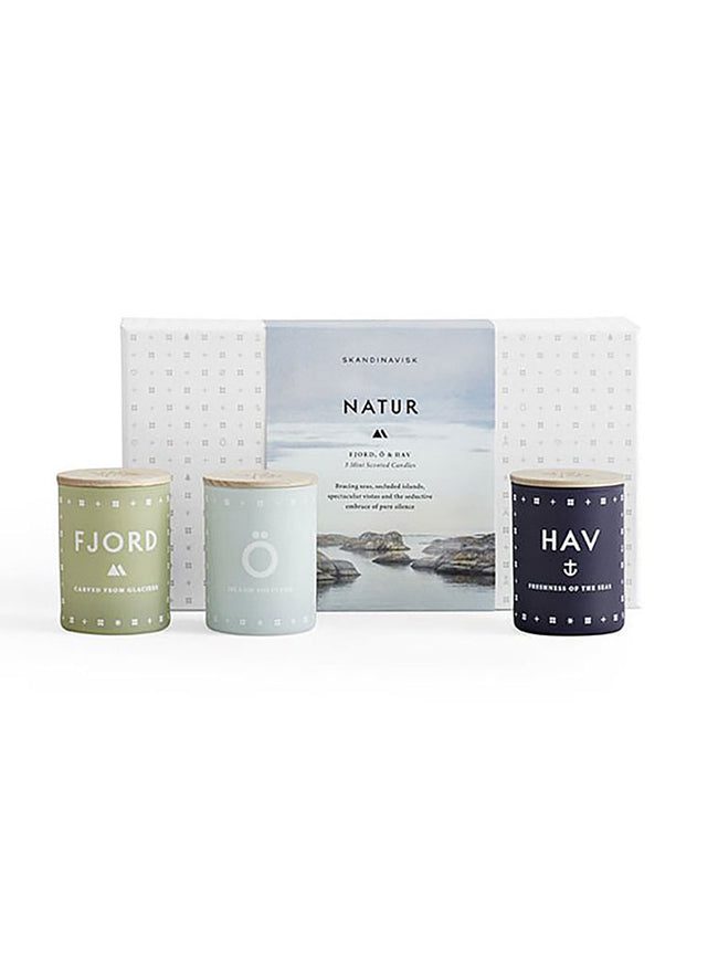 GIFT SET / TRIO OF CANDLES - NATUR