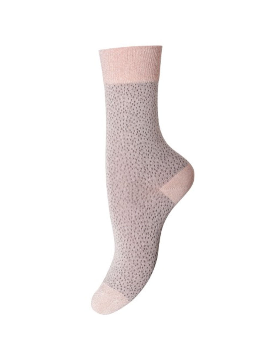 POPPY ANKLE SOCKS - NUDE SILVER
