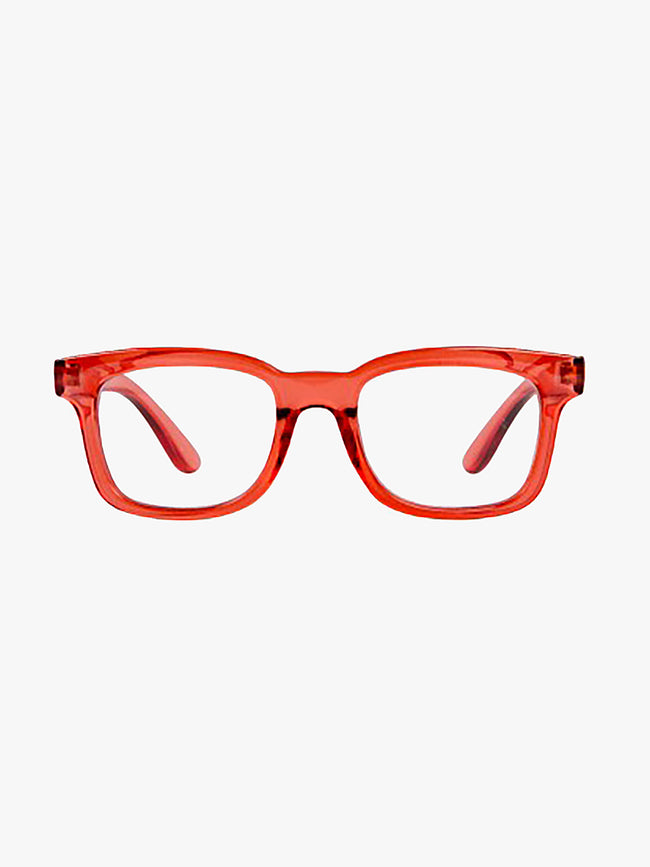 OTTO TRANSPARENT READING GLASSES - CORAL