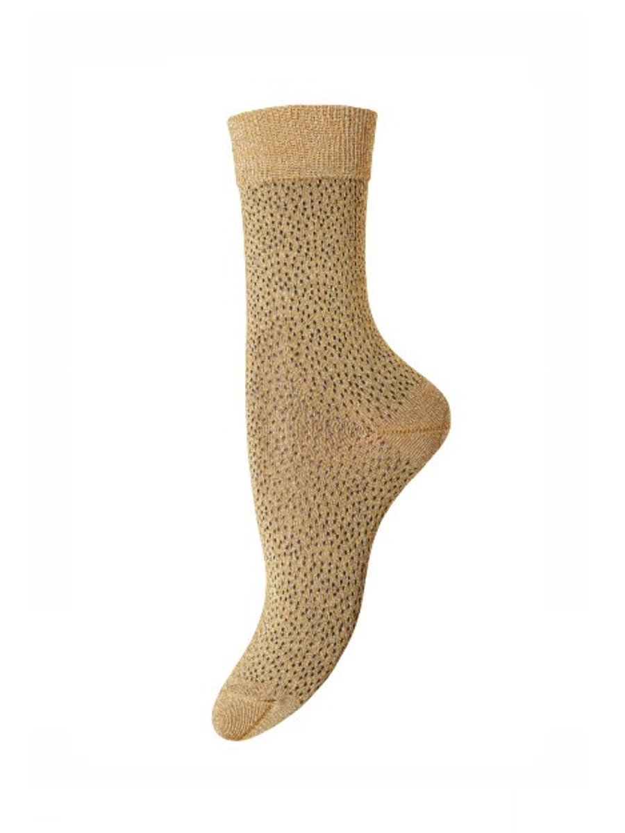 POPPY ANKLE SOCKS - GOLD