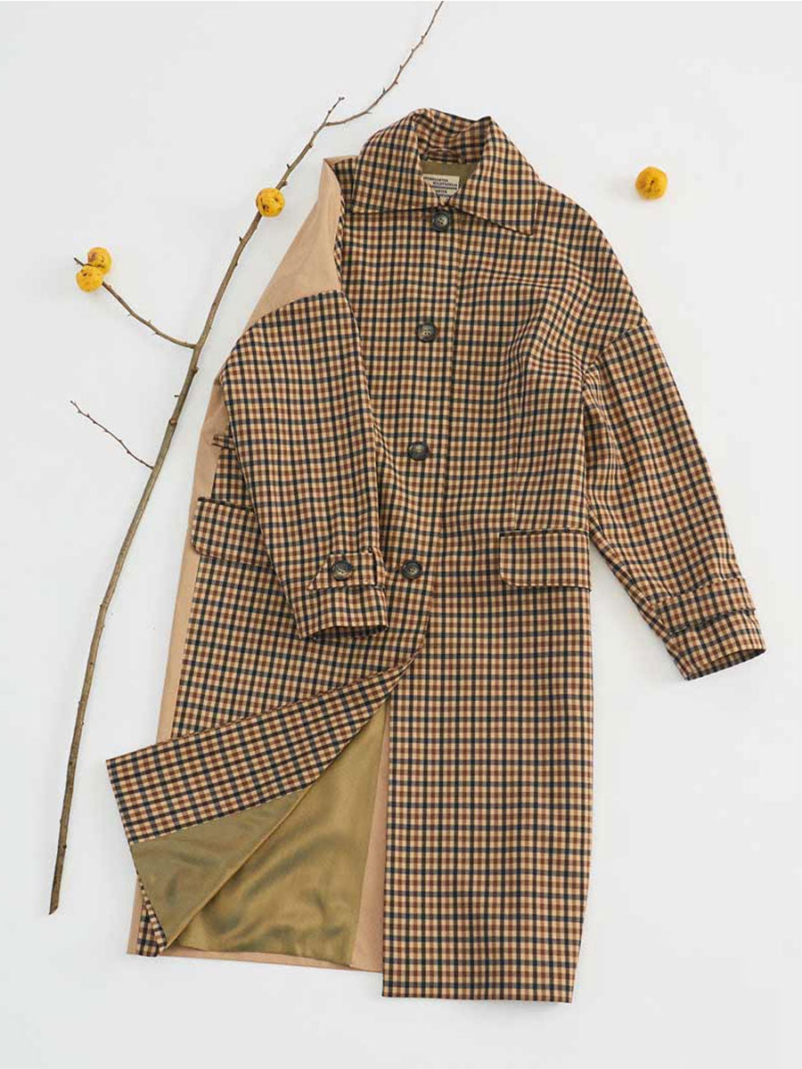 DARRI CHECKED COAT
