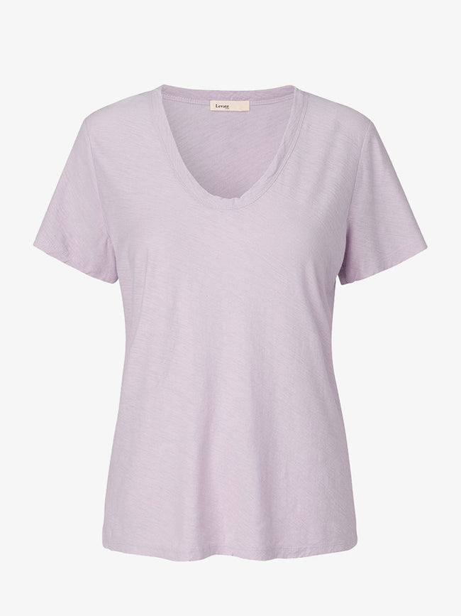 ANY2 SCOOP NECK T-SHIRT - CLOUD GREY