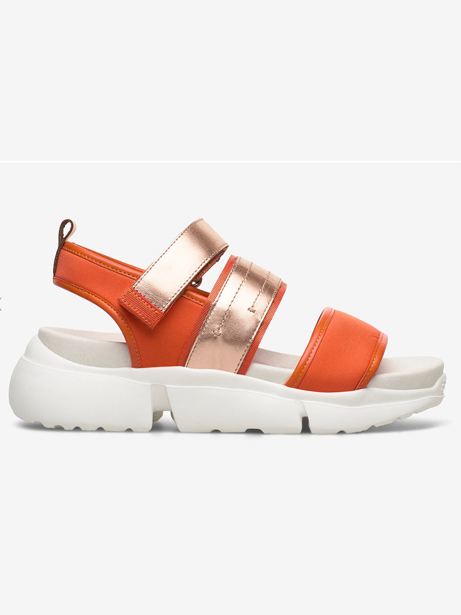 MALA SPORTY SANDALS - CORAL RED