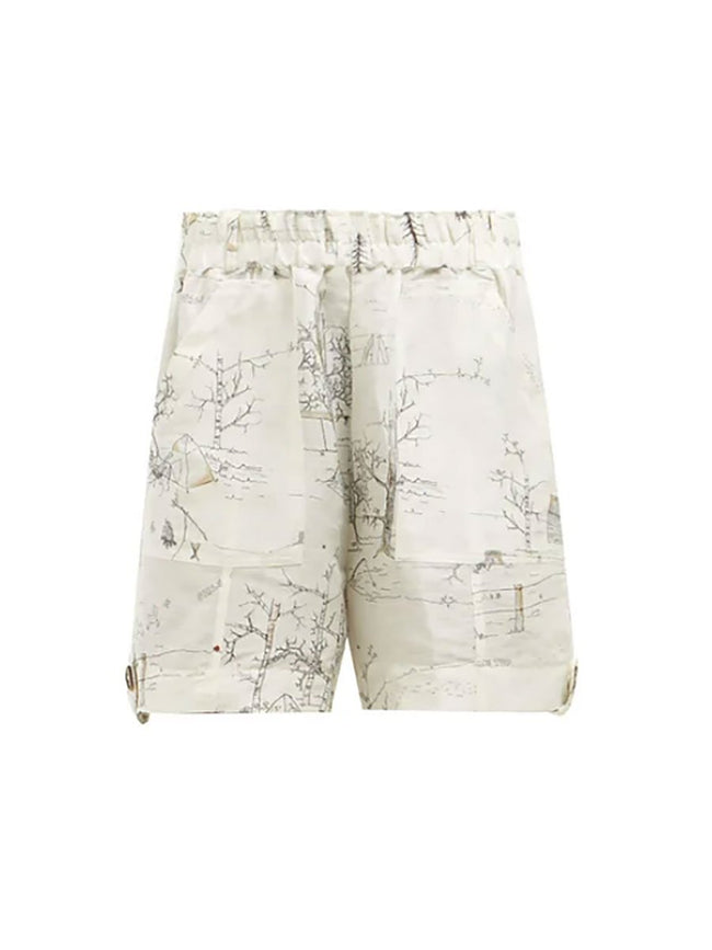 ILLUSTRATED SILK SHORTS