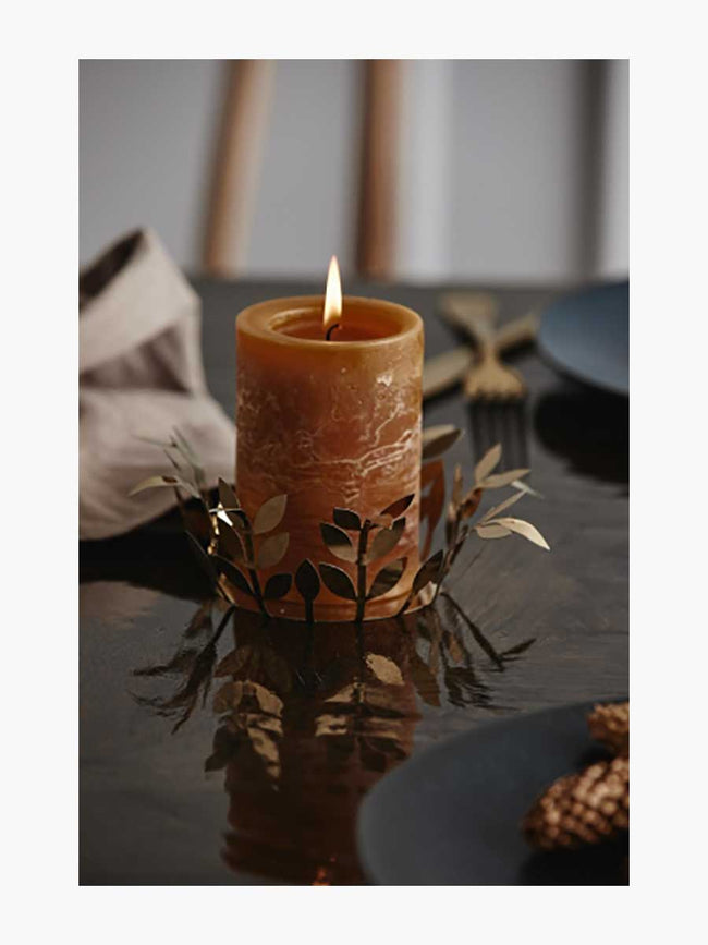 MEDIUM PILLAR CANDLE - BROWN