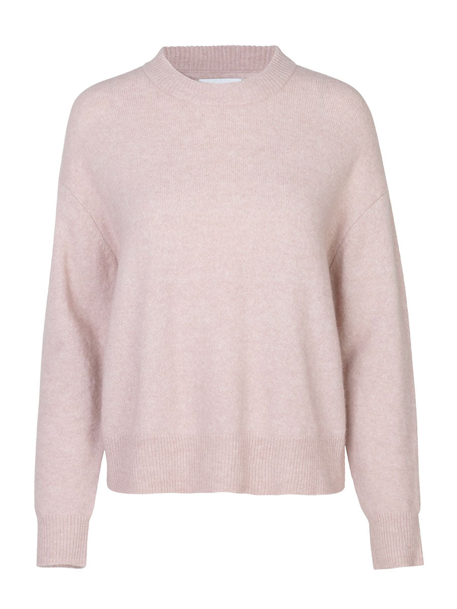 ANOUR PALE MAUVE ROUND NECK SWEATER