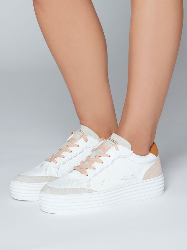 MAJKEN TRAINERS - WHITE/ROSE WATER
