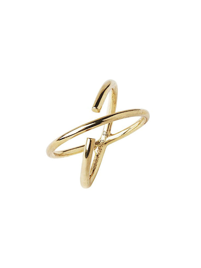 TWIN WRAP 'X' RING