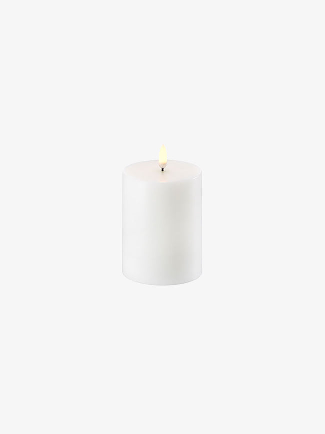 LED PILLAR CANDLE 8X10 - NORDIC WHITE