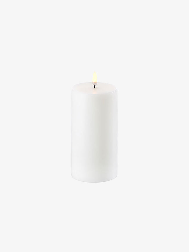 LED PILLAR CANDLE 8X15 - NORDIC WHITE