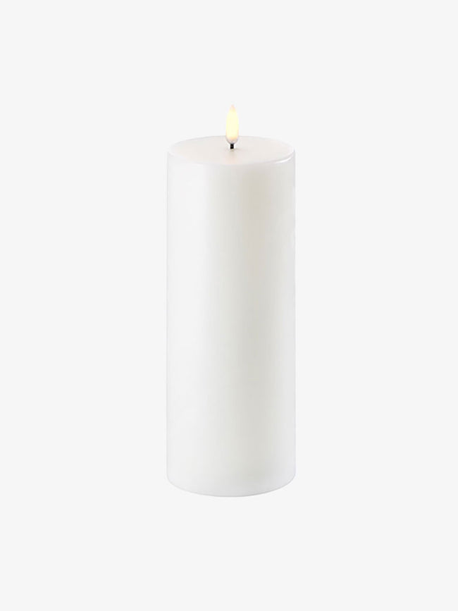 LED PILLAR CANDLE 8X20 - NORDIC WHITE