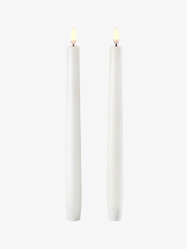 LED TAPER CANDLE TWIN PACK - NORDIC WHITE