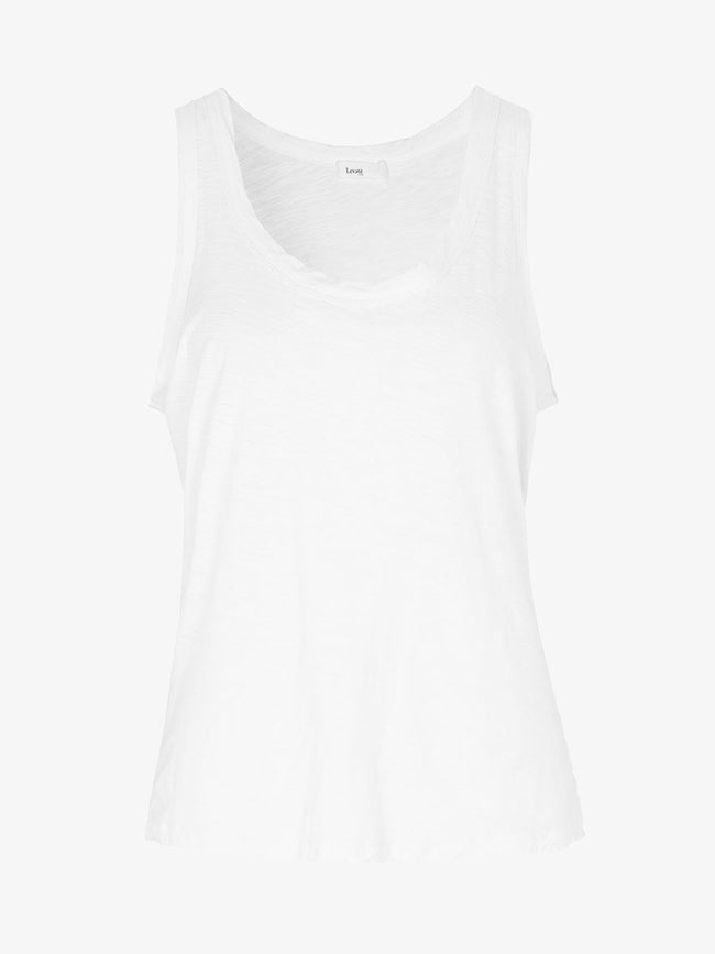 ANY7 SCOOP NECK VEST - WHITE